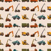 Seamless Truck Pattern