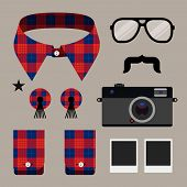 Set of fashion hipster design element