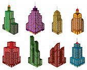 Skyscrapers in perspective (colors)