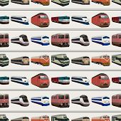 stock photo of hopper  - seamless train pattern - JPG