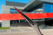 Business Building Opening Ceremony - Cutting Red Ribbon