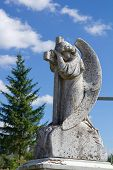 Beautiful Angel Statue On Cemetery