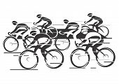 picture of bike path  - Black white background   - JPG