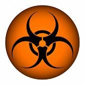 Biohazard Orange Circle Icon