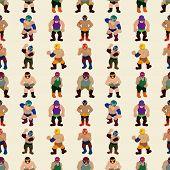 Seamless Wrestler Pattern