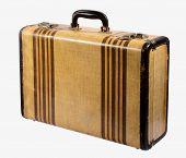 Old Vintage Rigid Frame Suitcase