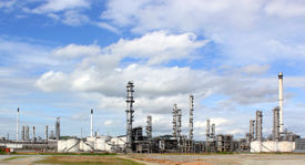 picture of ozone layer  - photo of  Oil refinery at day time - JPG