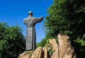 image of patron  - the patron saint of Italy Francis of Assisi who established the order of the Franciscans - JPG