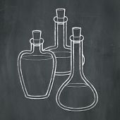 Chalk Potion Bottles