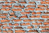 Unfinished Brick Wall, Close Up