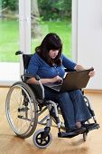 Disabled Woman Using Laptop
