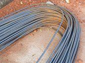 Reinforce Steel Rod On Consturction Site