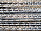 foto of reinforcing  - reinforce steel rod texture background - JPG