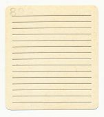 Ancient  Index Card Paper  With Lines Background