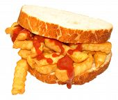 Chip Sandwich With Tomato Sauce