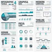 Blue infographics vector elements for business infographs