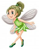 Illustration of a green fairy