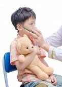 Little Boy Using Oxygen Mask