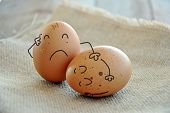 Caricatures Of Eggs