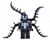 Ankara, Turkey - January 24, 2014: Lego Marvel super hero venom isolated on white background.