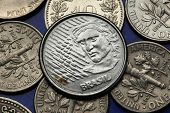 Coins of Brazil. Brazilian five centavos coin.