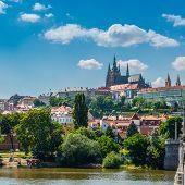 view on the Prague , Prague hrad Czech Republic