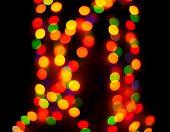 Background of defocused lights, or bokeh