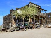 An Old Saloon  In Goldfield Ghost Town