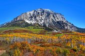 Beautiful Marcelina mountain in Colorado in autumn time