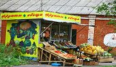 Typical Russian Green Grocery Stall In Nizhny Novgorod