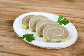 Appetizing Liver Loaf Sliced
