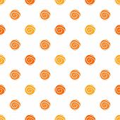 Warm polka dot vector seamless pattern