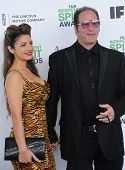 LOS ANGELES - MAR 01:  Andrew Dice Clay & Valerie Vasquez arrives to the Film Independent Spirit Awards 2014  on March 01, 2014 in Santa Monica, CA.