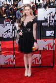 LOS ANGELES - APR 13:  Greer Grammer arrives to the 2014 MTV Movie Awards  on April 13, 2014 in Los Angeles, CA.