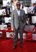LOS ANGELES - APR 13:  Anthony Mackie arrives to the 2014 MTV Movie Awards  on April 13, 2014 in Los Angeles, CA.