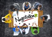 Group of People Brainstorming about Negotiation Concept