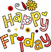Happy Friday Cartoon Text Clipart