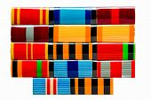 Collection Of Russian (soviet) Medal Ribbons For Participation In The Second World War
