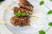 Beef Kebab With With Couscous