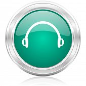 headphones internet icon