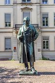 Statue Of Robert Wilhelm Bunsen In Heidelberg