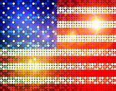 Bandera brillante de América