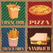 Fast food menu cards
