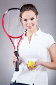 Pretty Girl Going For Tennis