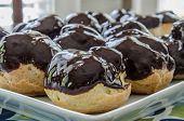 Chocolate Covered Cream Puffs