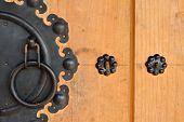 Wooden Door And Knock Door Of Korean Style