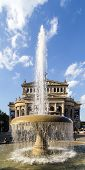 The Old Opera House  In Frankfurt With Lucae Fountain