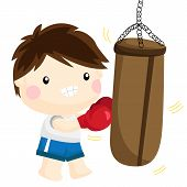 Boxing On Sandsack