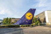 L Tail Sign Installed At Tor 21 At Lufthansa Headquarter In Frankfurt