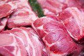 fresh pork meat and fresh steak